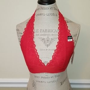 New with Tags. PINK Lace Halter Bra.